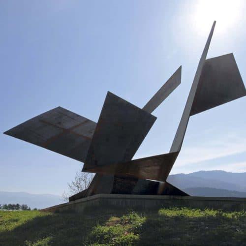 Kunstradweg Südkärnten Bleiburg Skulpturen Kultur Ausflugsziele Radfahren in Ferienregion Klopeinersee in Österreich