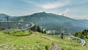 die bekannte Alpen-Achterbahn Nocky Flitzer auf der Turrach