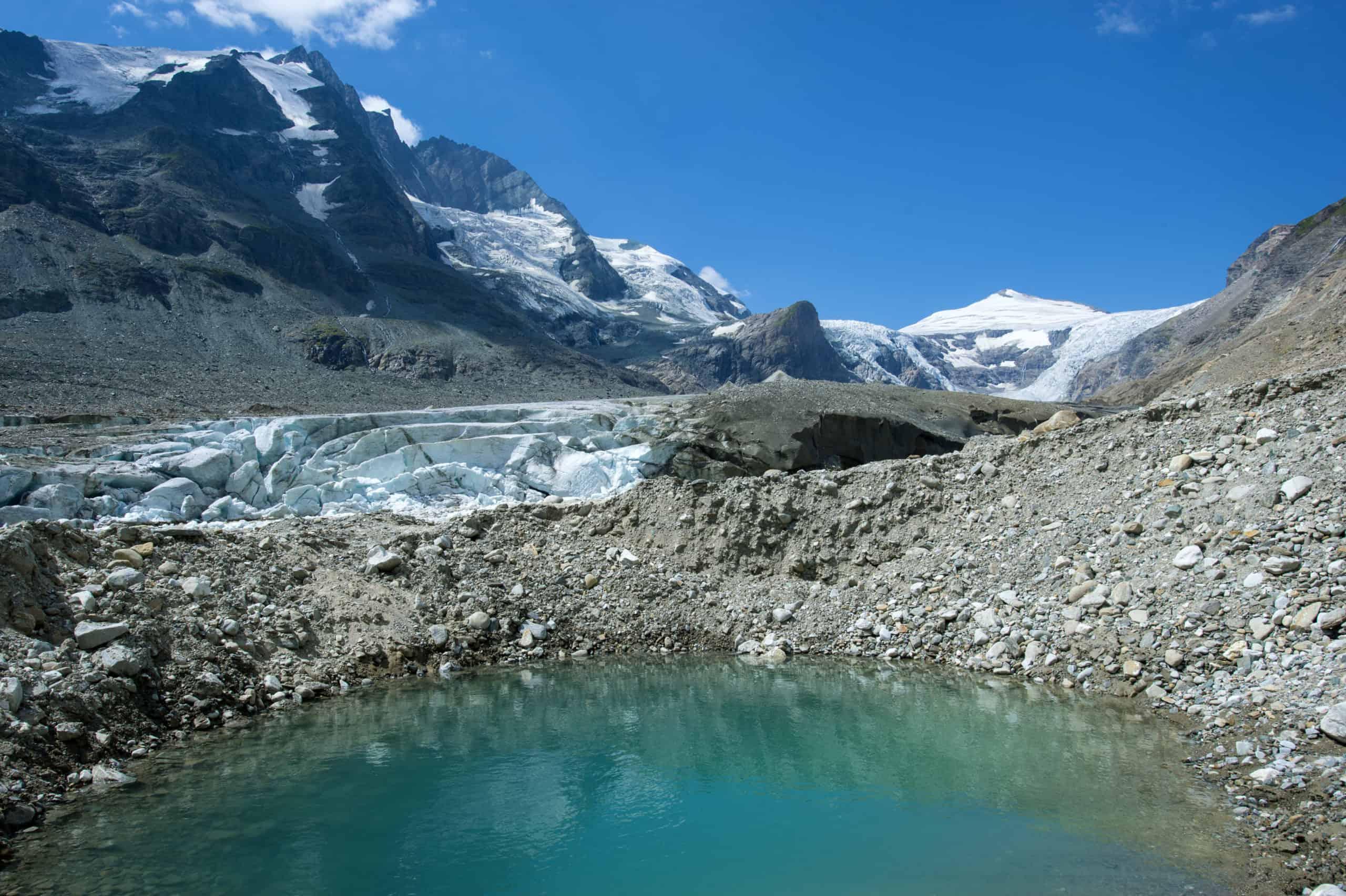 Pasterze - Großglockner-Gletscher in Österreich