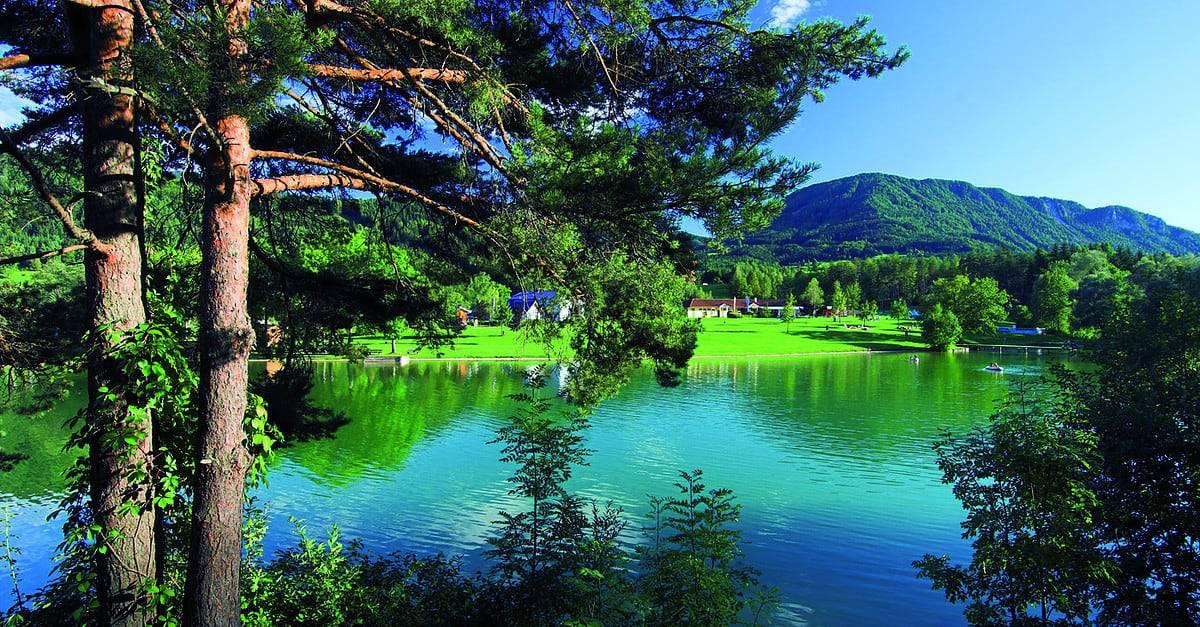 Sonnegger See in der Region Klopeinersee in Kärnten. Badesee & schöner Ort in Österreich.