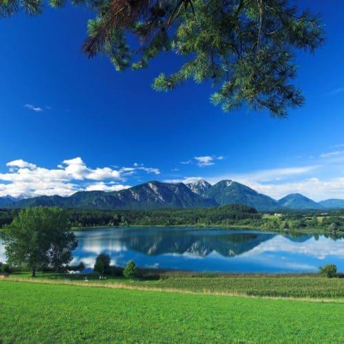 Turnersee in der Urlaubsregion Klopeinersee Südkärnten in Österreich