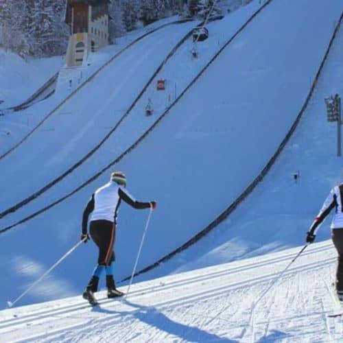 Langlaufen in der Villacher Alpenarena - Kostenlos mit der Winter Kärnten Card