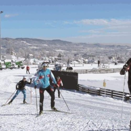 Winteraktivitäten in Kärnten abseits der Pisten in der Alpenarena Villach beim Langlaufen und Skating - Winter in Österreich