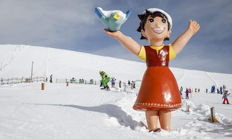 Heidis Schneealm am Falkert in den Nockbergen in Österreich. Kostenloser Eintritt mit Winter Kärnten Card.