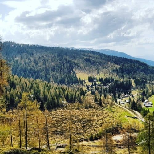 Feldpannalm in Urlaubsregion Bad Kleinkirchheim, Wandern in Österreich, Kärnten.