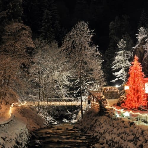 Ausflugsziel Granatium in Radenthein im Winter bei Urlaub in Kärnten, Österreich.