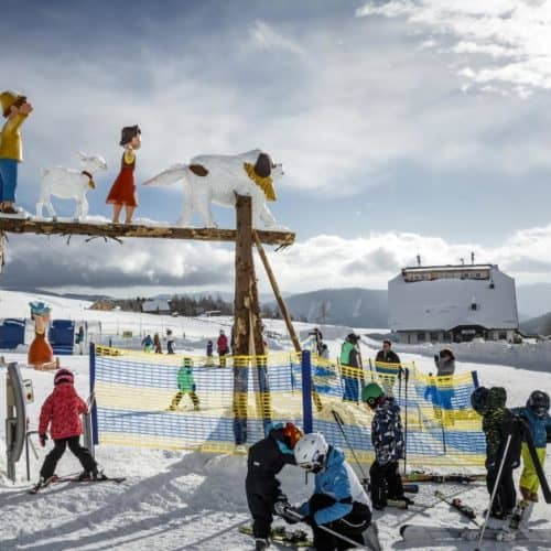 Familienskigebiet Falkert mit Heidi's Schneealm. Gratis Eintritt mit Winter Kärnten Card.