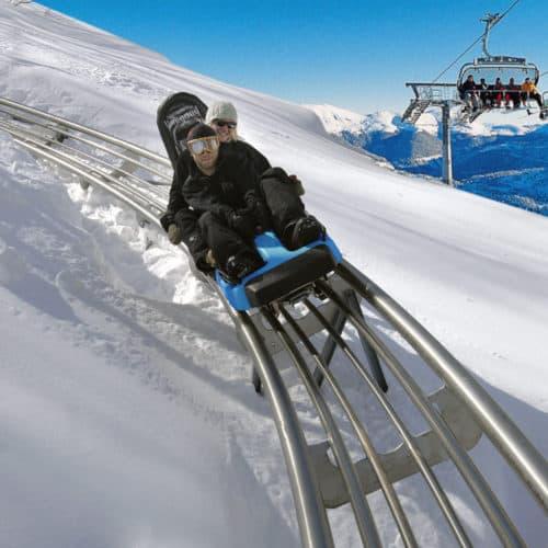 Im Winter geöffnete Ausflugsziele in Kärnten & Steiermark: Rodelbahn Nocky Flitzer auf der Turracher Höhe