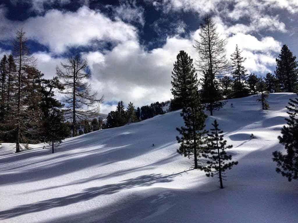 Winterlandschaft mit Schnee auf der Turracher Höhe in Kärnten & Steiermark bei Winterurlaub in Österreich