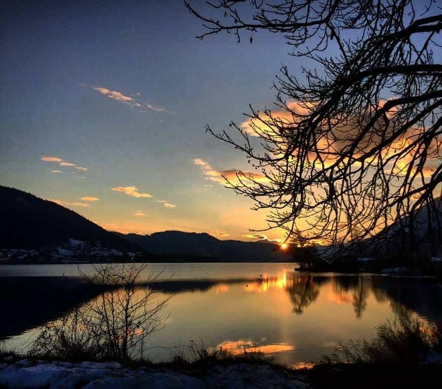 Winter am Ossiacher See in Kärnten - Österreich