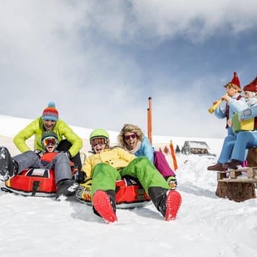 Winterurlaub mit der Familie am Falkert in Heidis Schneealm - kostenlos mit Winter Kärnten Card