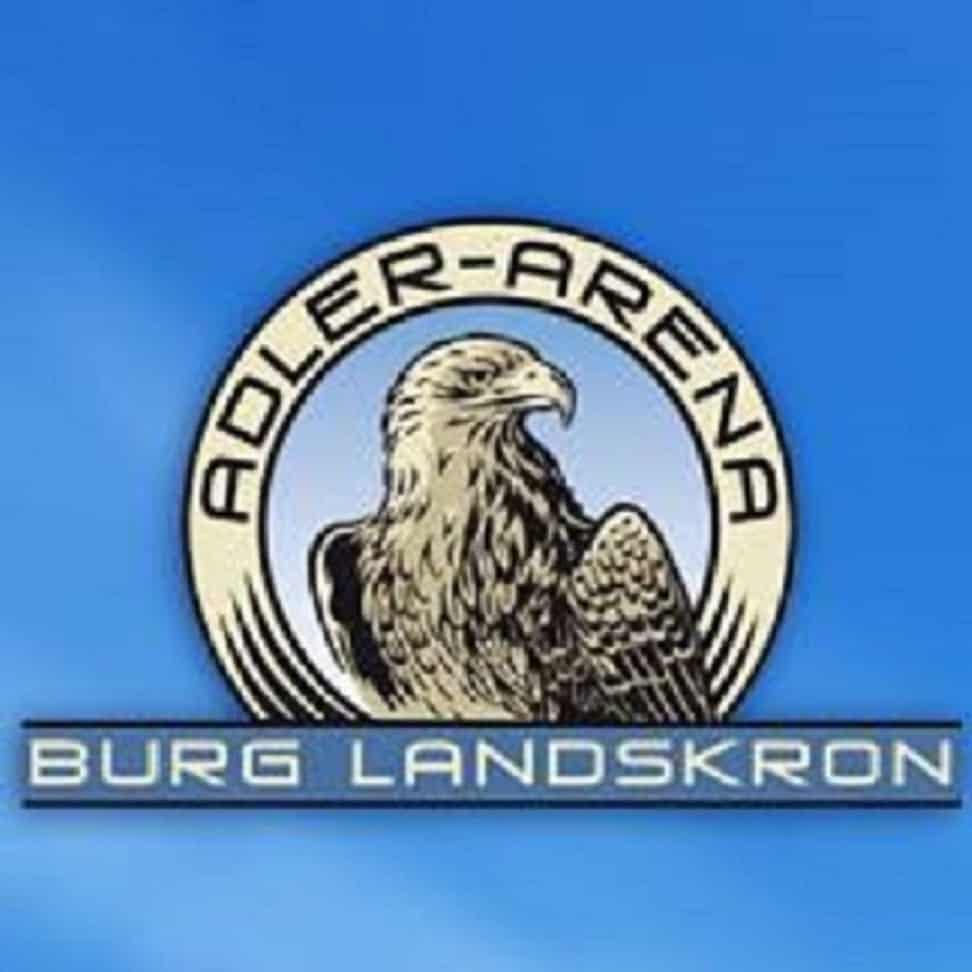 Adlerarena Burg Landskron - Greifvogelwarte mit Flugshows in Kärnten bei Affenberg - Logo