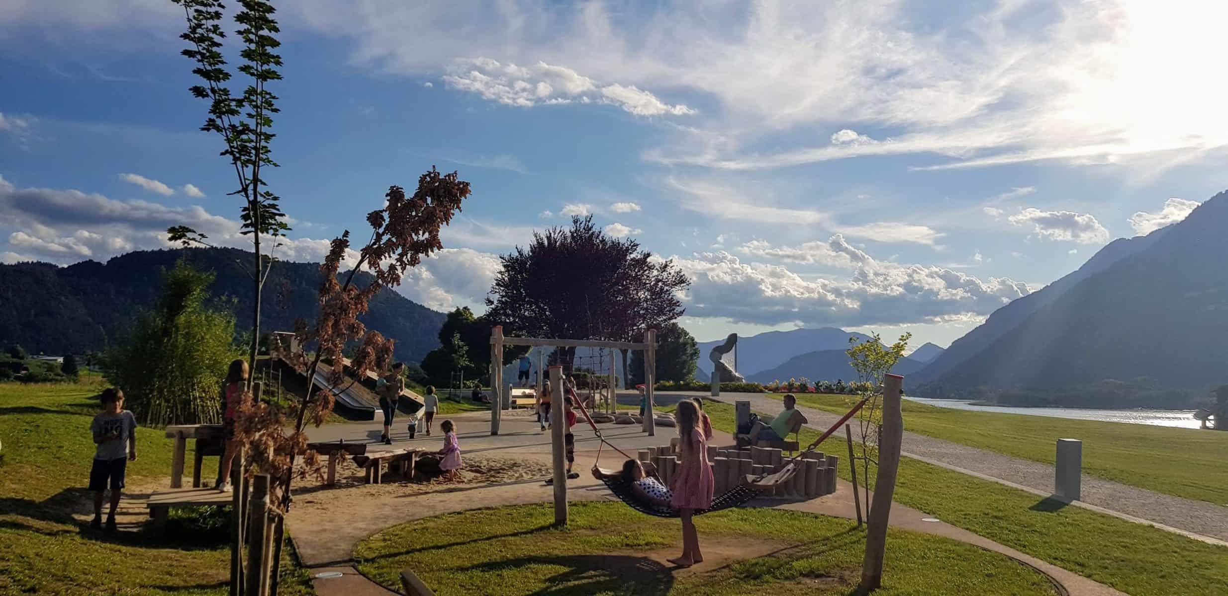 Kinderspielplatz in Kärnten am Ossiacher See