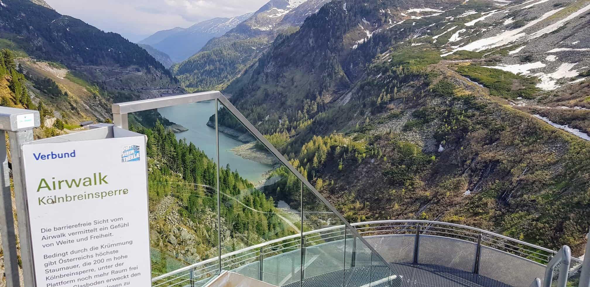Airwalk Kölnbreinsperre - barrierefreie Sicht auf Bergwelt im Maltatal - Nationalpark Hohe Tauern in Kärnten