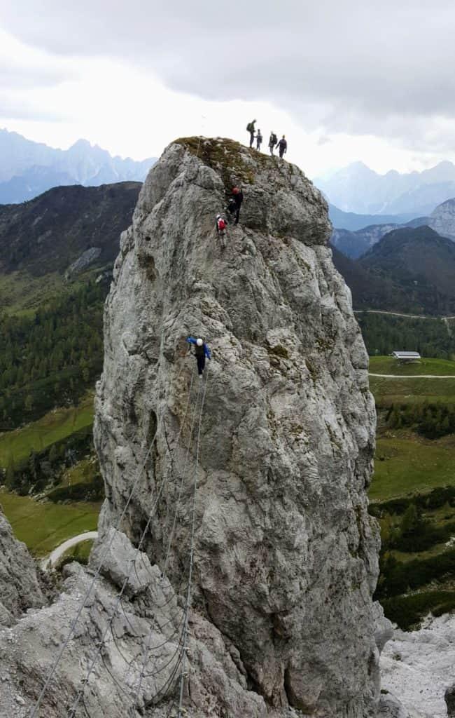 Aktivitäten am Nassfeld - Klettersteig Däumling Gartnerkofel