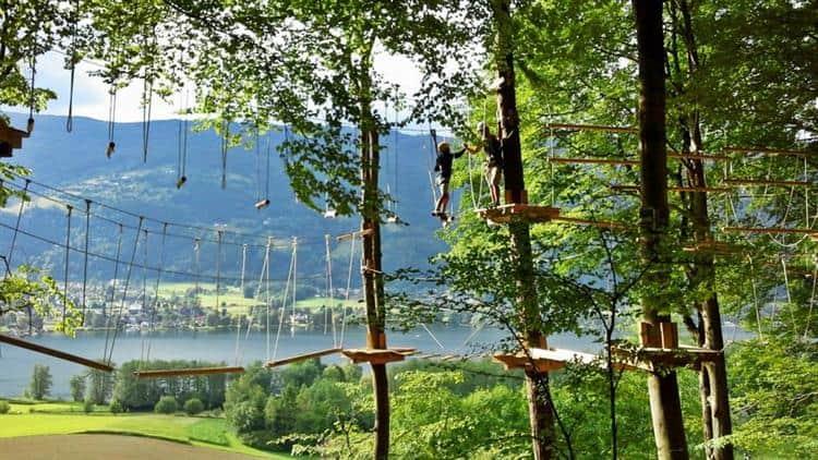Kletterwald in Ossiacher See Gerlitzen geöffnet