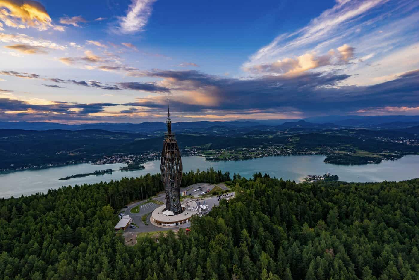 Pyramidenkogel am Wörthersee in Kärnten
