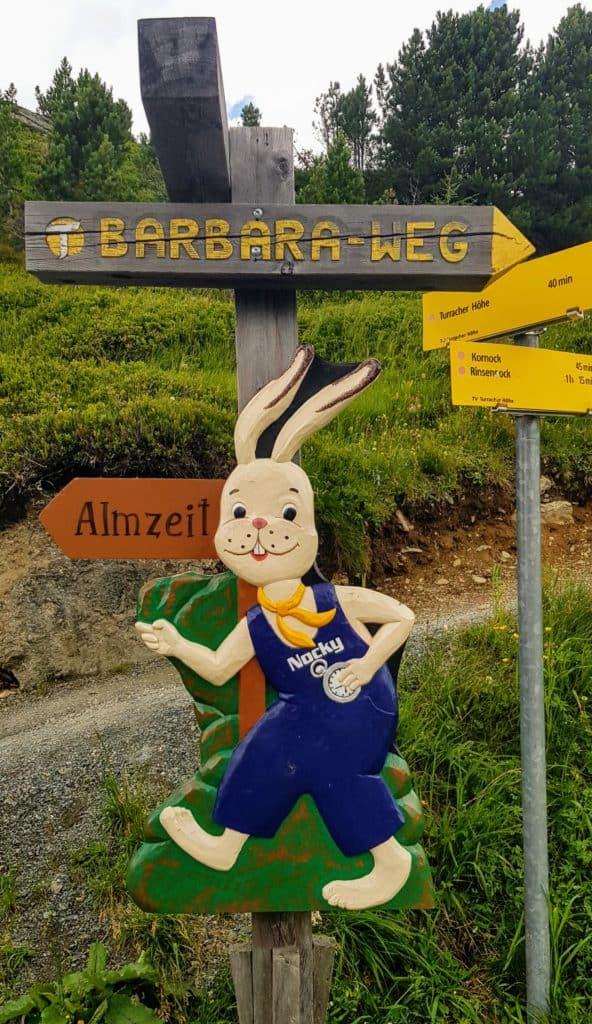 Barbaraweg & KInderspielplatz Nockys Almzeit bei der Panoramabahn Turracher Höhe