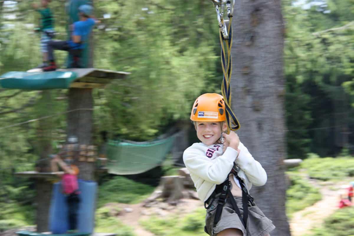 Kind im NTC Outdoorpark Nassfeld - Tipps für Freizeitaktivitäten für Familien in Kärnten