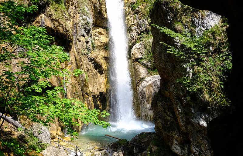 Sehenswerter Wasserfall in der Tscheppaschlucht - Tschaukofall