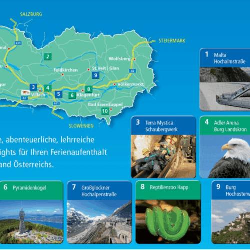 Kärntens TOP 10 Ausflugsziele und Sehenswürdigkeiten - Übersicht
