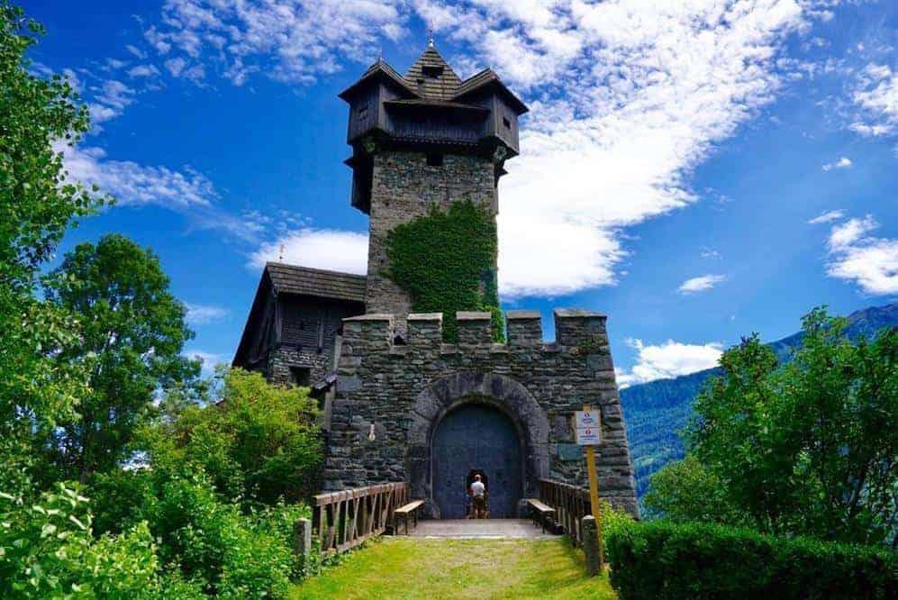 Burg Falkenstein in Obervellach Ausflugsziel Nationalpark Hohe Tauern Kärnten