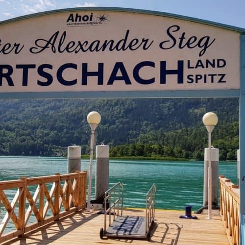 Peter Alexander Steg in Pörtschach am Wörthersee - Schiffsanlegestelle Pörtschach Landspitz