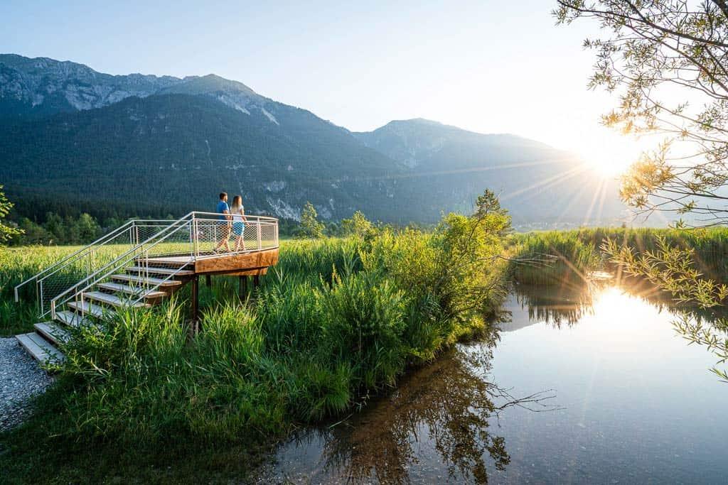 Slow Trail Pressegger See, Wanderweg in Kärnten - Urlaubsregion Nassfeld, Österreich