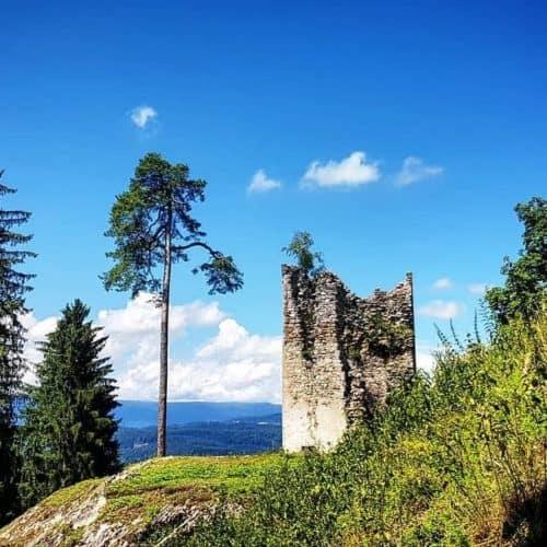 Ruine Rosegg in Österreich, Kärnten - Ausflugstipp Karawankenregion Rosental