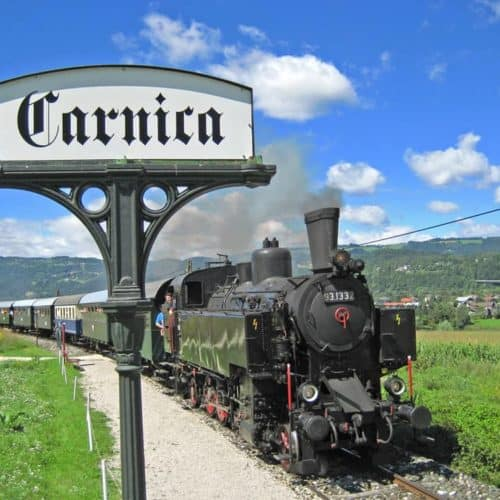 Ausflugsziel Nostalgiebahn Rosental in der Carnica Region Nähe Wörthersee in Kärnten