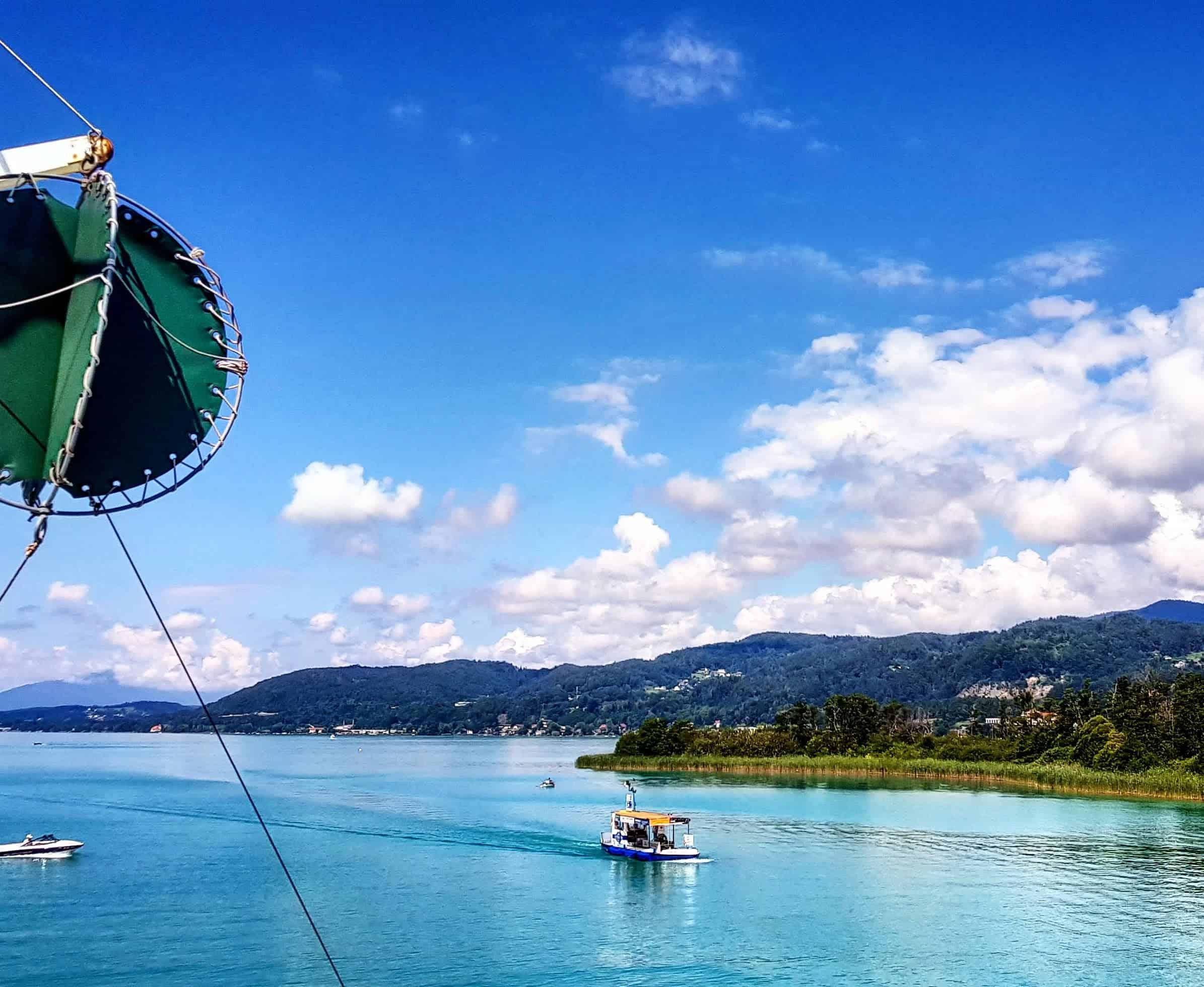Wörthersee Schifffahrt bei Familienausflug in Kärnten