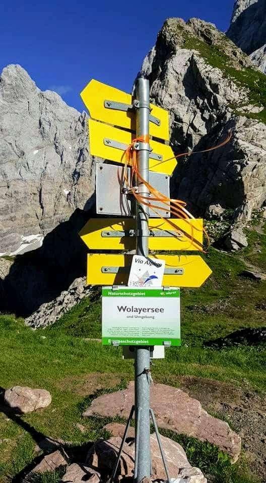 Wanderweg zum Wolaysersee in Kärnten - Beschilderung