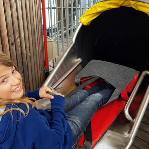 Indoor Rutsche - Attraktion am Pyramidenkogel in Kärnten, Ausflugsziel und Aussichtsturm am Wörthersee