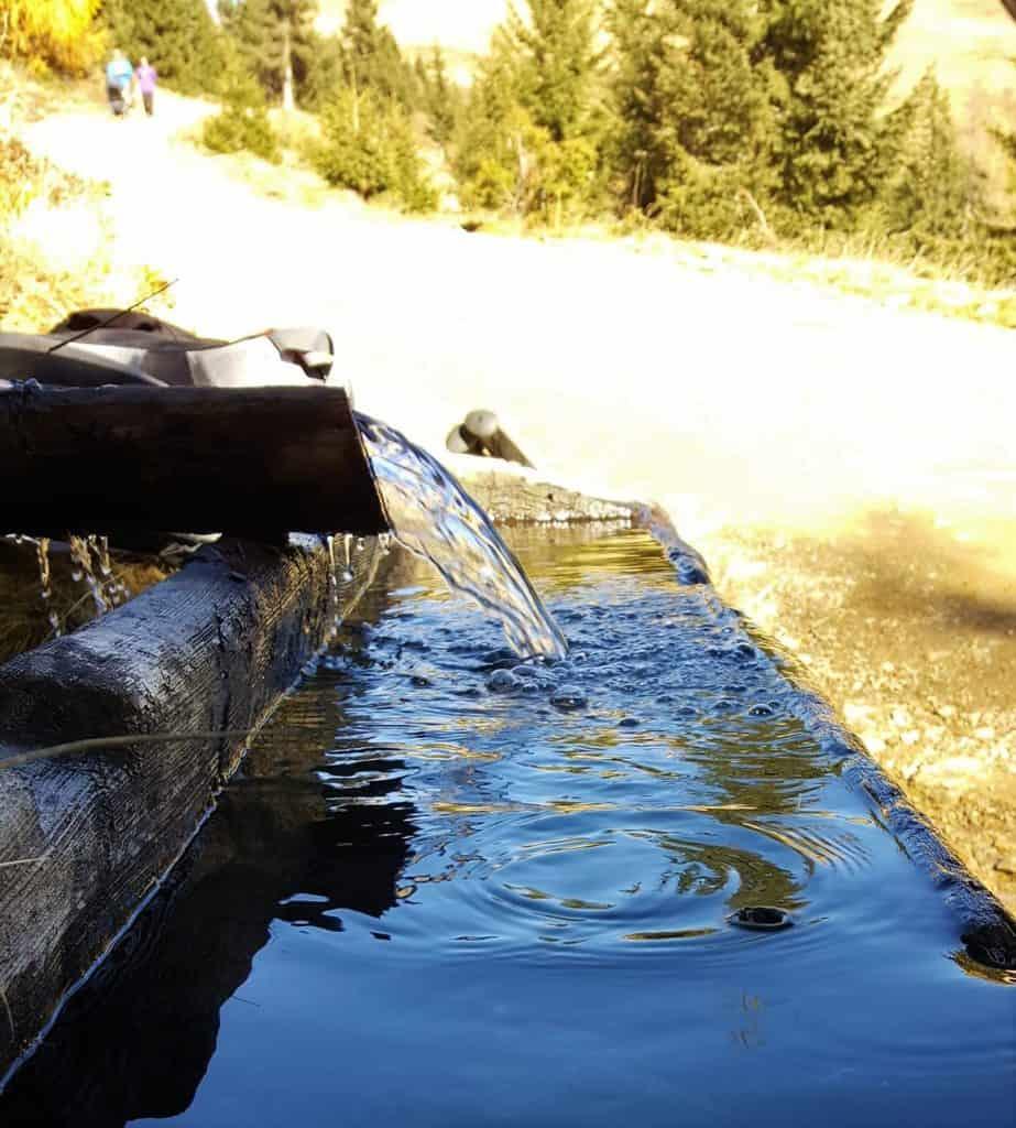 Quellwasser Kärnten bei Familienwanderung