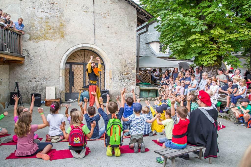 Ritterfest für Familien auf der Burg Hochosterwitz in Kärnten
