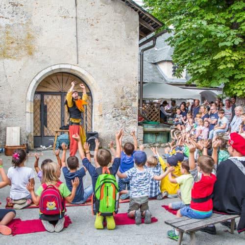 Kinderprogramm beim Ritterfest auf der Burg Hochosterwitz in Kärnten