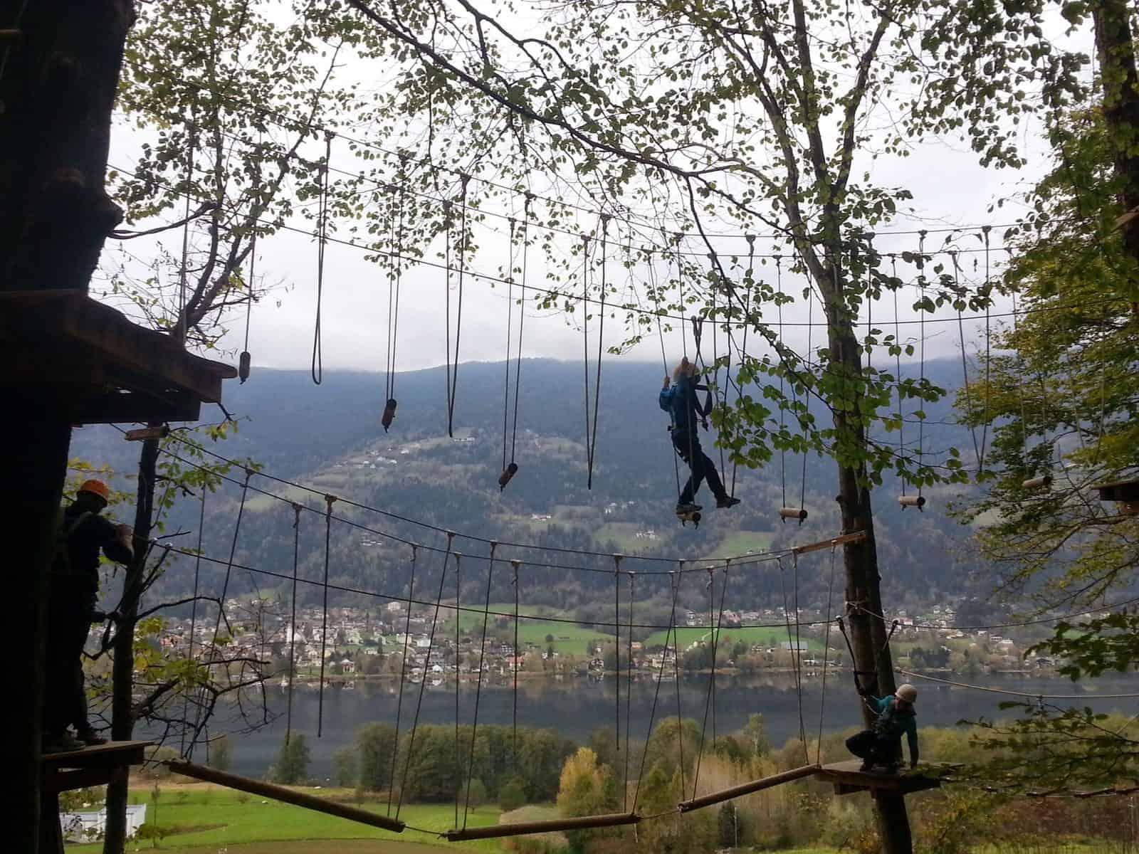 Mit Kindern im Family- & Kletterwald am Ossiacher See (Urlaubsregion Villach) in Kärnten