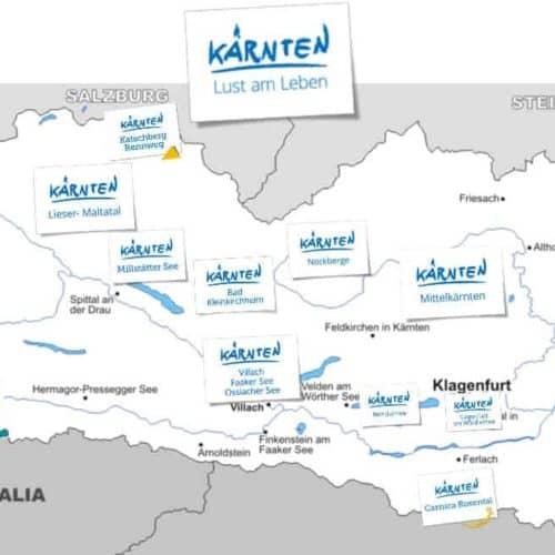 Kärnten Karte Urlaubsregionen