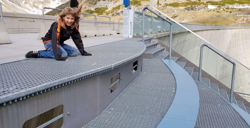 Kinderausflug Maltatal Staudamm Kölnbreinsperre Airwalk, Sehenswürdigkeit in Kärnten