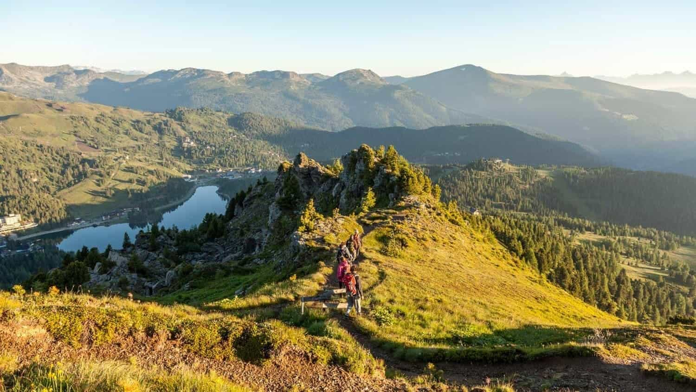 Turracher Höhe Aktivitäten Sommer - Wandern über Turracher See