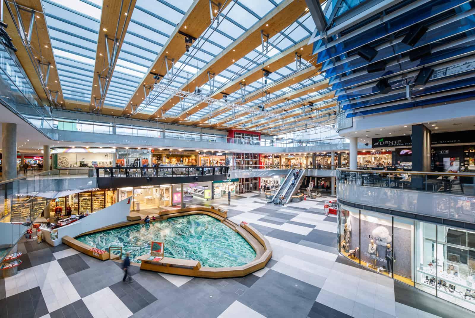 Ganzjährig geöffnetes Atrio Einkaufszentrum in Villach - Kärnten